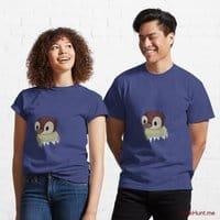 Ghost Duck (fogless) Blue Classic T-Shirt (Front printed)