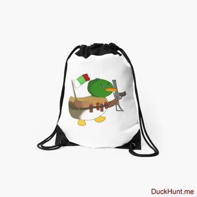 Kamikaze Duck Drawstring Bag image