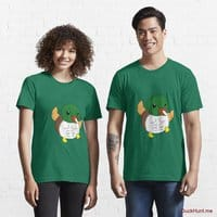 Super duck Green Essential T-Shirt (Front printed)