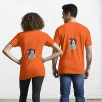 Ghost Duck (fogless) Orange Essential T-Shirt (Back printed)