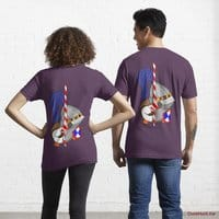 Armored Duck Eggplant Essential T-Shirt (Back printed)