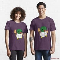 Super duck Eggplant Essential T-Shirt (Front printed)