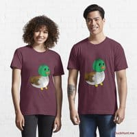 Normal Duck Dark Red Essential T-Shirt (Front printed)