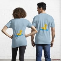 Plastic Duck Light Blue Essential T-Shirt (Back printed)