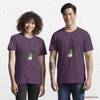 Prof Duck Eggplant Essential T-Shirt (Front printed)