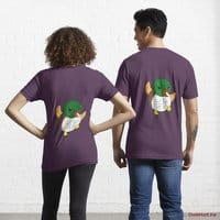 Super duck Eggplant Essential T-Shirt (Back printed)