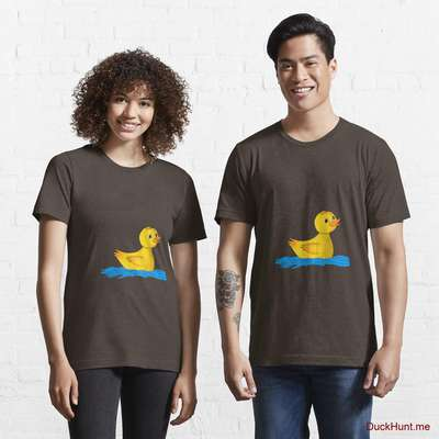 Plastic Duck Brown Essential T-Shirt (Front printed) image
