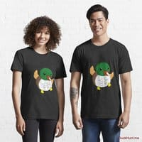 Super duck Black Essential T-Shirt (Front printed)