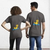 Plastic Duck Charcoal Heather Essential T-Shirt (Back printed)