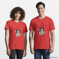 Ghost Duck (fogless) Red Essential T-Shirt (Front printed)