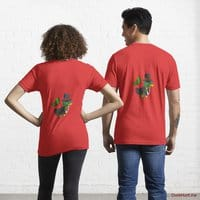 Golden Duck Red Essential T-Shirt (Back printed)