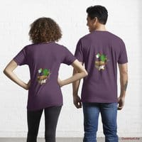 Kamikaze Duck Eggplant Essential T-Shirt (Back printed)