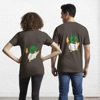 Super duck Brown Essential T-Shirt (Back printed)