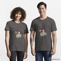 Ghost Duck (fogless) Charcoal Heather Essential T-Shirt (Front printed)