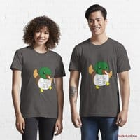 Super duck Charcoal Heather Essential T-Shirt (Front printed)