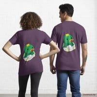 Baby duck Eggplant Essential T-Shirt (Back printed)