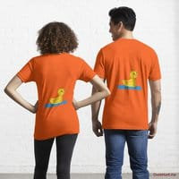 Plastic Duck Orange Essential T-Shirt (Back printed)