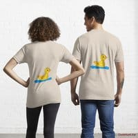 Plastic Duck Creme Essential T-Shirt (Back printed)