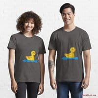 Plastic Duck Charcoal Heather Essential T-Shirt (Front printed)