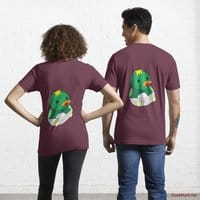 Baby duck Dark Red Essential T-Shirt (Back printed)