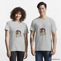 Ghost Duck (fogless) Heather Grey Essential T-Shirt (Front printed)