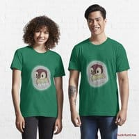 Ghost Duck (foggy) Green Essential T-Shirt (Front printed)