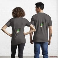 Prof Duck Charcoal Heather Essential T-Shirt (Back printed)