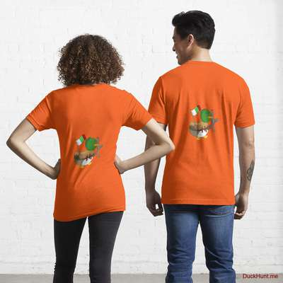Kamikaze Duck Orange Essential T-Shirt (Back printed) image
