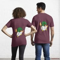 Super duck Dark Red Essential T-Shirt (Back printed)