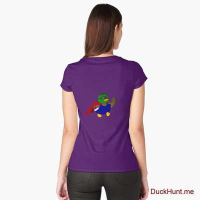 Alive Boss Duck Purple Fitted Scoop T-Shirt (Back printed) image