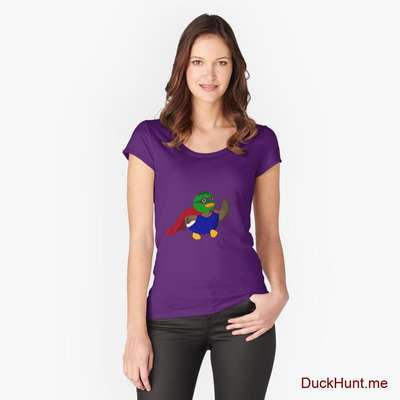 Alive Boss Duck Purple Fitted Scoop T-Shirt (Front printed) image