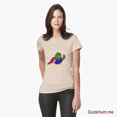 Alive Boss Duck Creme Fitted T-Shirt (Front printed) image