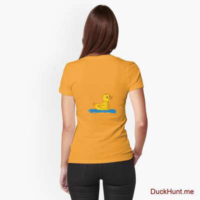 Plastic Duck Gold Fitted T-Shirt (Back printed) image