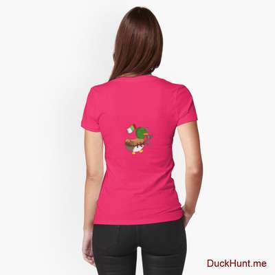 Kamikaze Duck Berry Fitted T-Shirt (Back printed) image