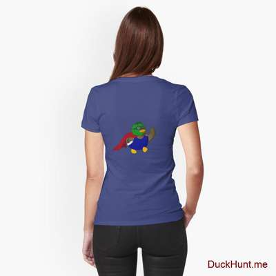 Alive Boss Duck Blue Fitted T-Shirt (Back printed) image