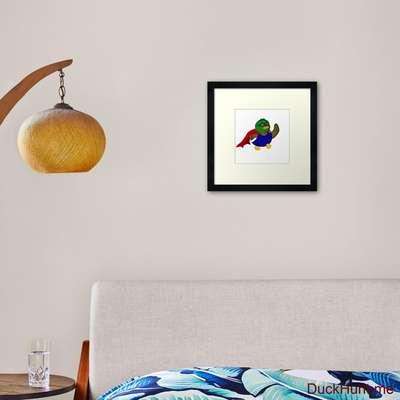 Alive Boss Duck Framed Art Print image