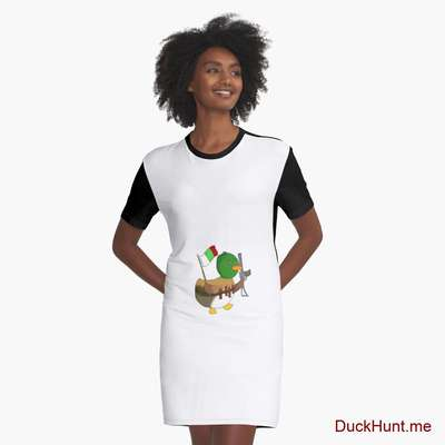 Kamikaze Duck Graphic T-Shirt Dress image
