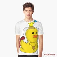 Royal Duck White Graphic T-Shirt