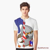 Armored Duck White Graphic T-Shirt