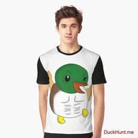 Super duck Black Graphic T-Shirt