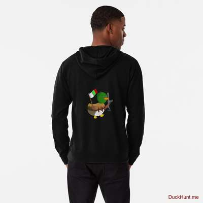 Kamikaze Duck Black Lightweight Hoodie (Back printed) image