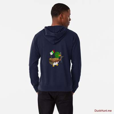 Kamikaze Duck Navy Lightweight Hoodie (Back printed) image