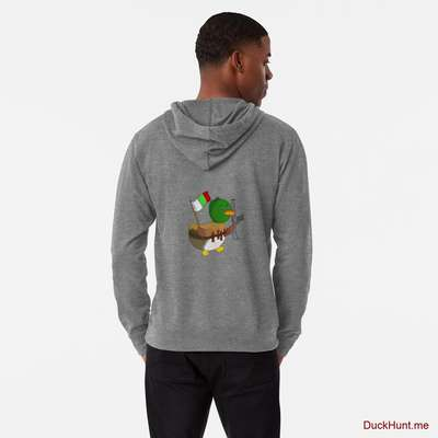 Kamikaze Duck Grey Lightweight Hoodie (Back printed) image
