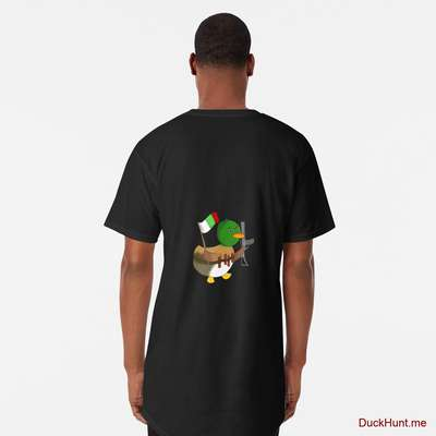 Kamikaze Duck Black Long T-Shirt (Back printed) image