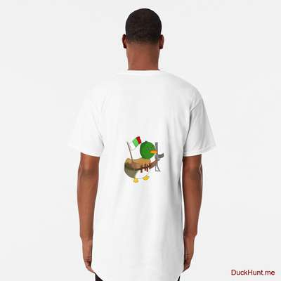 Kamikaze Duck White Long T-Shirt (Back printed) image