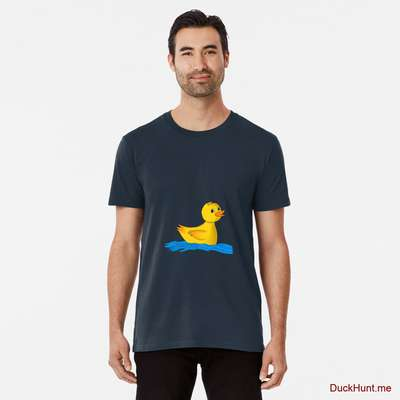 Plastic Duck Navy Premium T-Shirt (Front printed) image