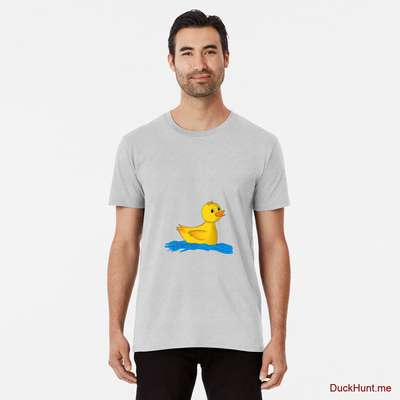 Plastic Duck Heather Grey Premium T-Shirt (Front printed) image