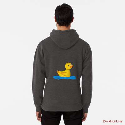 Plastic Duck Charcoal Heather Pullover Hoodie (Back printed) image