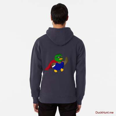 Alive Boss Duck Dark Blue Pullover Hoodie (Back printed) image