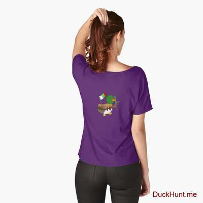 Kamikaze Duck Purple Relaxed Fit T-Shirt (Back printed) image